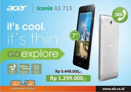 Tablet Android Hancur Harga !! Acer Iconia A1 713 Cuma 1 Jt Lebih Dikit