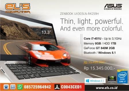 Asus Bikin Panas Persaingan Laptop Lagi Dengan Asus Seri UX303LN-R4259H Graphic Win 8.1