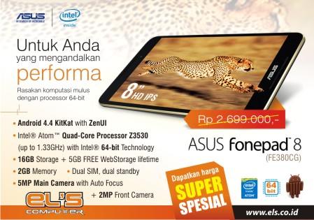 Handphone Yang Siap Di Upgrade Jadi Tablet Fonepad 8 FE380CG Cuma Di ELS Computer