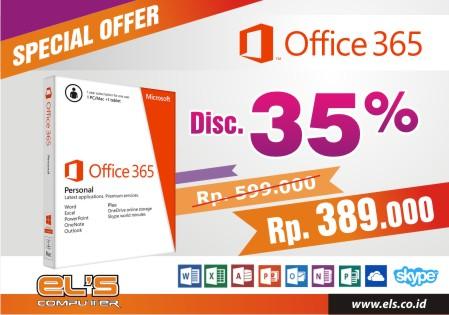 Kagak Malu Pake Bajakan Bos ??? Pake Office Original , Office 365 Murah Diskon 35% Lagi