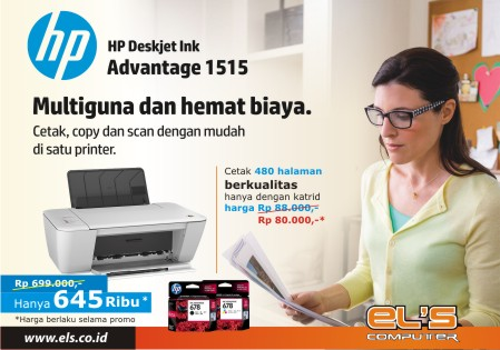 Printer Dengan Catridge dan Tinta Murah Ya HP DJ1515 Harga Murah di ELS Computer