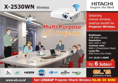 Era Wireless Telah Mendunia, Hitachi Menghadirkan Seri Wireless X-2530WN