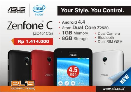 Zenfone C alias Zenfone 4,5 Udah ada loh di ELS Computer