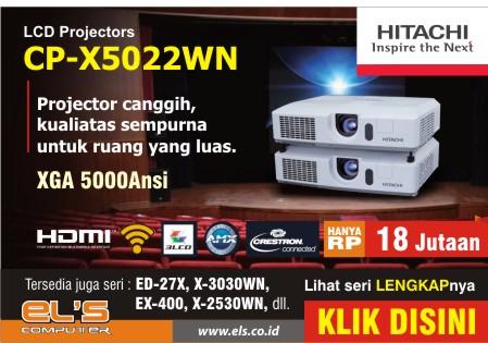 Review : Spesifikasi Lengkap Projector Hitachi CP-X5022WN