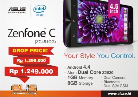 Penawaran Spesial Turun Harga !! Zenfone C alias Zenfone 4,5 Cuma di ELS Computer