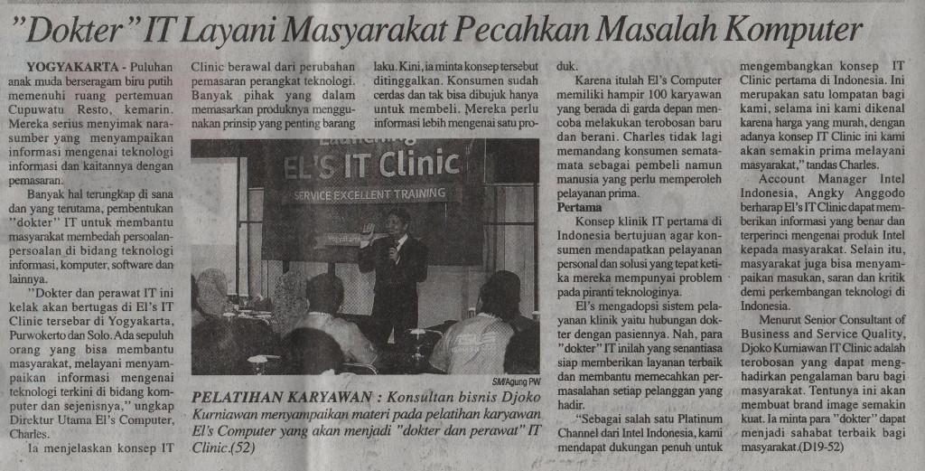 Liputan Media EL'S IT Clinic - Suara Merdeka 7 April 2015