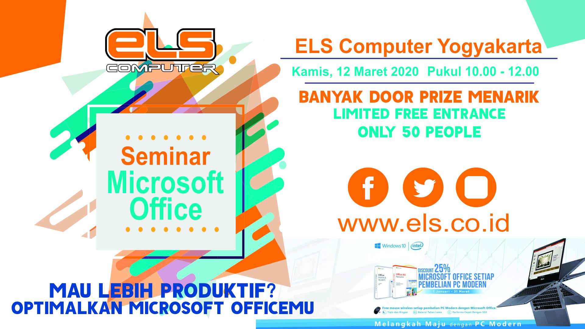 Seminar Microsoft Office Gratis di ELS Computer